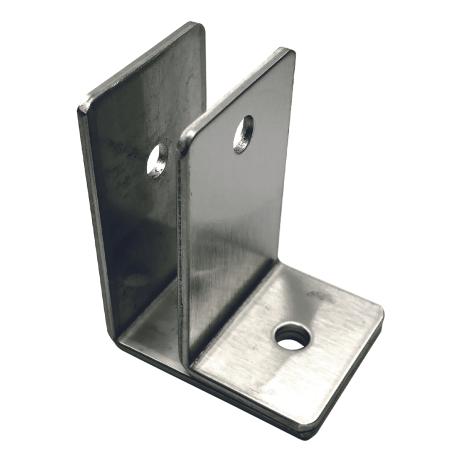 Photograph showing detail of Bobrick F-Bracket Internal Panel-to-Wall - 1000975.