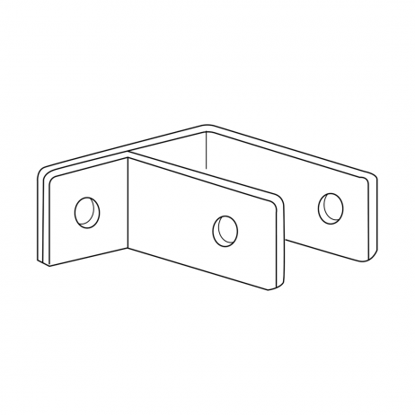 Line drawing of the BBobrick F-Bracket Internal Panel-to-Wall – 1000975.