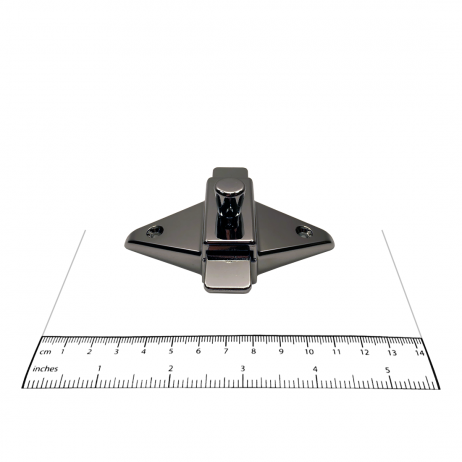 Photograph of surface latch from Bobrick In-Swing Door Hardware Kit - 1002038, with ruler.