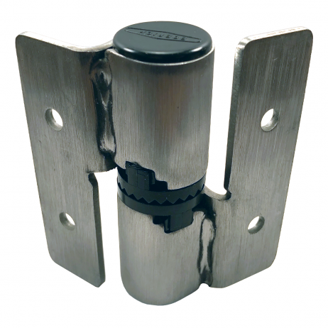 Photograph of the reverse side of the hinge included in Bobrick L-Hinge Packet - 1002330.