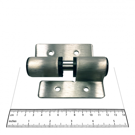 Photograph showing the size of the Bobrick L-Hinge Packet - 1002330 components.
