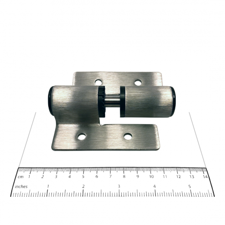 Photograph showing the size of the Bobrick J-Hinge Packet - 1002331 components.