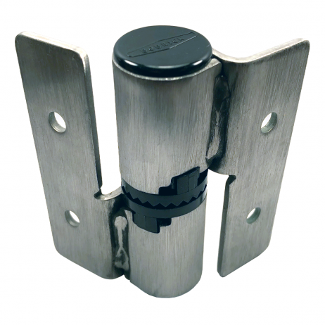 Photograph of the reverse side of the hinge included in Bobrick J-Hinge Packet - 1002331.
