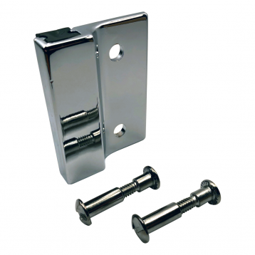 Alternate photo of keeper and through-bolts from the Bobrick Out-Swing Keeper Packet - 1002525.