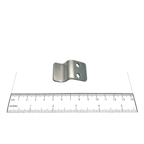 Photograph of Bobrick In-Swing Keeper - 1040-35 with ruler.