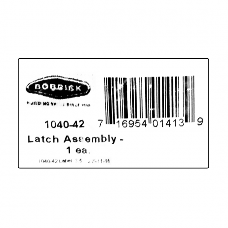 Scanned image of Bobrick Surface Latch Packet - 1040-42 package label.