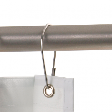 Photograph showing an alternate view of the Bobrick Shower Curtain Hook Set 204-1.
