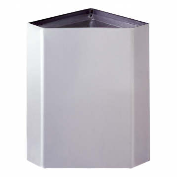 Photograph of the Bobrick Surface-Mounted Corner Waste Receptacle B-268.