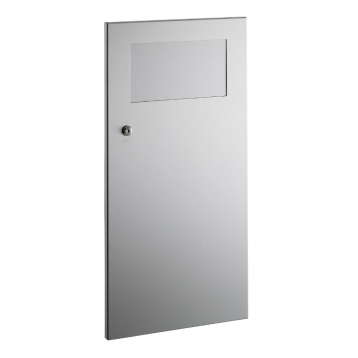 Photograph of Bobrick Recessed Waste Receptacle with Disposal Door B-35633.