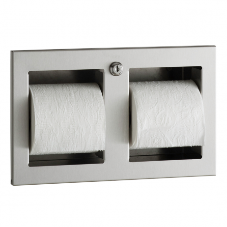 Photograph of the Bobrick Recessed Multi-Roll Toilet Tissue Dispenser B-35883.