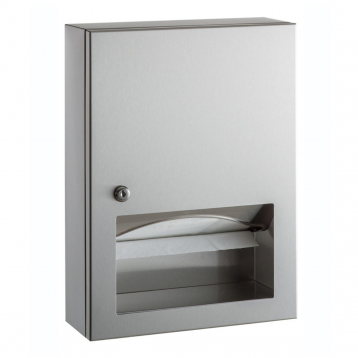 Photograph of the Bobrick TrimLineSeries Surface-Mounted Paper Towel Dispenser B-359039.