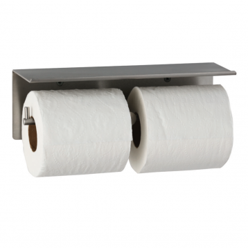 Photograph of the Bobrick Cubicle Collection Toilet Tissue Dispenser & Utility Shelf B-540.