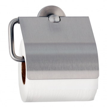 Photograph showing alternate view of the Bobrick Cubicle Collection Toilet Tissue Dispenser with Hood B-546.