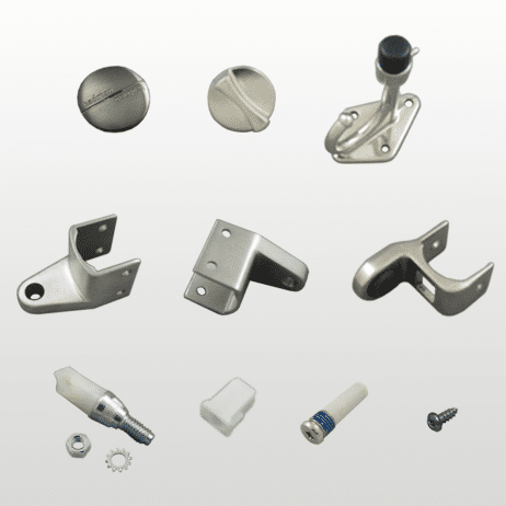 Photograph of Hadrian 901000 hardware kit components.