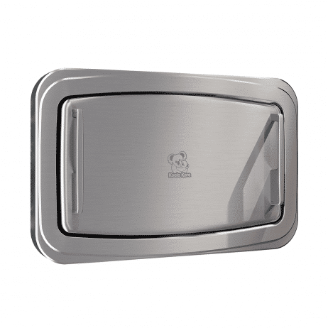 Koala Kare KB310-SSWM horizontal surface-mount baby changing station with the changing surface closed.