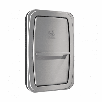 Koala Kare KB311-SSWM vertical surface-mount baby changing station shown with the changing surface closed.